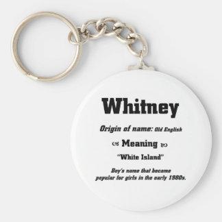 Nomeie Whitney Chaveiro