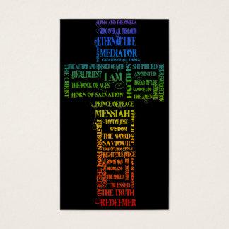 Nomes da cruz de Jesus Cartão De Visitas