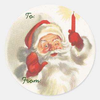 Nomes de etiqueta do Natal do papai noel Adesivo