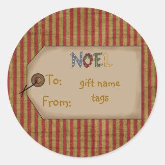 Nomes de etiqueta do presente da coleção do adesivo