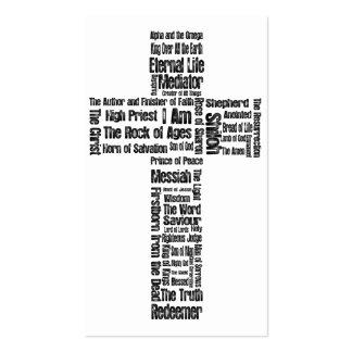 Nomes do 2:1 de Jesus/Eph - intervalo de 10 Cartão De Visita