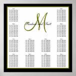 Nomes do monograma da carta do assento do casament impressão