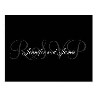Nomes do monograma do casamento do cartão de RSVP
