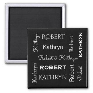 Nomes dos casais ímã quadrado