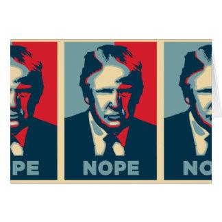 nope de Donald Trump Cartão