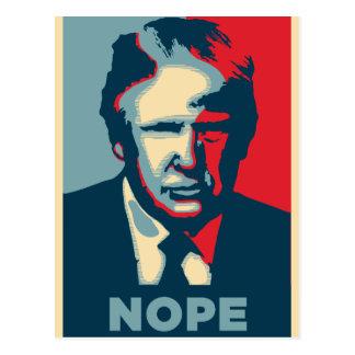 nope de Donald Trump Cartão Postal