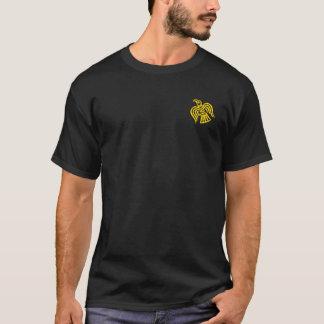 Norsemen - preto de Viking & camisa cruzada ouro