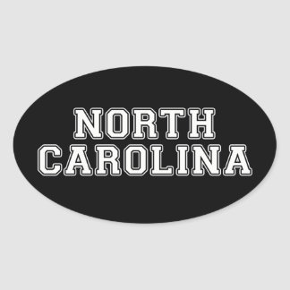 North Carolina Adesivo Oval