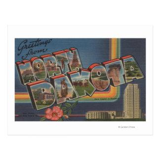 North Dakota (capital de estado/flor) Cartão Postal