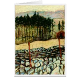 """""""North Yorkshire amarra"""" o cartão das belas artes"""