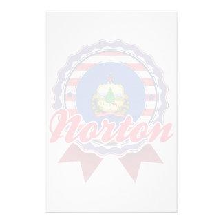 Norton, VT Papelaria Personalizada