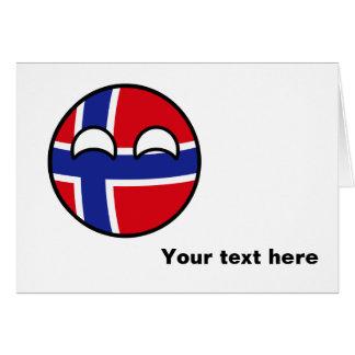 Noruega Geeky de tensão engraçada Countryball Cartão