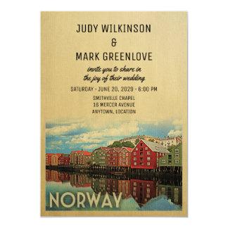 Norueguês do convite do casamento de Noruega