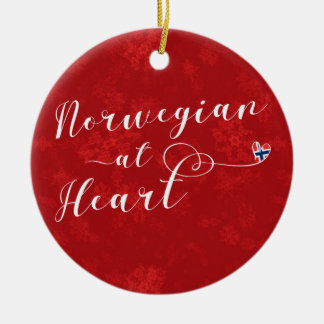 Norueguês no coração, ornamento da árvore de Natal