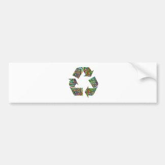 Nós adore campeões do reciclar adesivo para carro