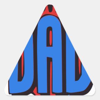 Nós amamo-lo pai adesivo triangular