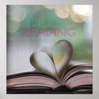 Nós amamos ler o poster da sala de aula