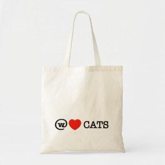 nós amamos o saco dos gatos bolsas de lona