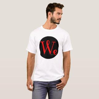 Nós as pessoas arredondamos o t-shirt dos homens camiseta