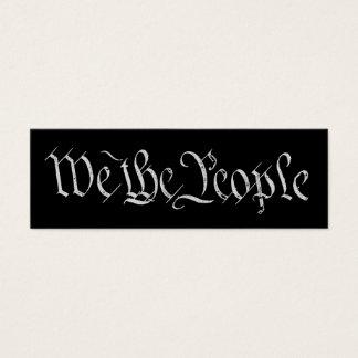 Nós as pessoas do cartão de visita do branco