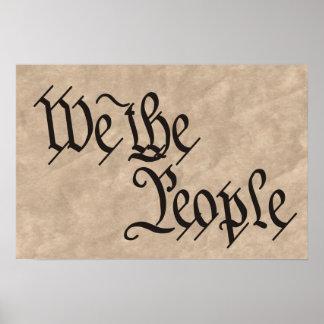 Nós as pessoas/pergaminho pôster