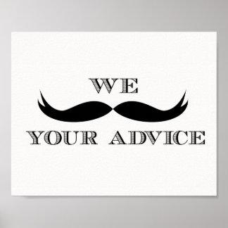 Nós bigode seu sinal do conselho poster