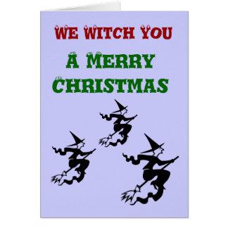 Nós bruxa você um cartão do Feliz Natal