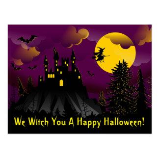 Nós bruxa você um cartão feliz do Dia das Bruxas