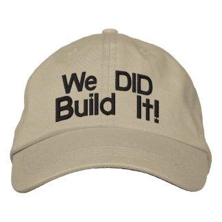Nós construímo-lo Chapéu bordado Boné