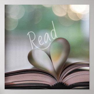 Nós coração para ler o poster da brecha do livro
