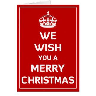 Nós desejamos-lhe o Feliz Natal Cartão