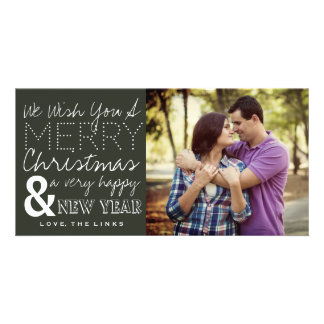 Nós desejamos-lhe um cartão com fotos do Feliz Cartão Com Foto