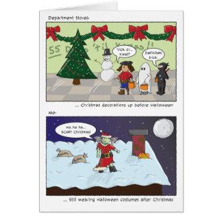 Nós desejamos-lhe um Natal assustador Cartão Comemorativo
