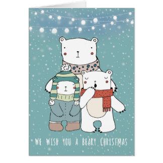 nós desejamos-lhe um Natal beary cartão do xmas do