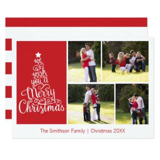 Nós desejamos-lhe uma foto do Feliz Natal 4 cartão
