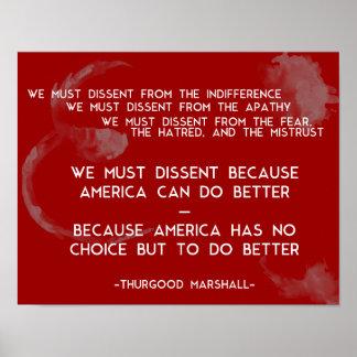 Nós devemos discordar… Poster de Thurgood Marshall