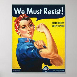 Nós devemos resistir: Protesto do costume de Rosie Pôster