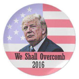 Nós devemos trunfo América de Overcomb Louça De Jantar