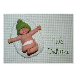 """""""Nós entregamos"""": Algum negócio: Bebê recém-nascid Cartão De Visita Grande"""