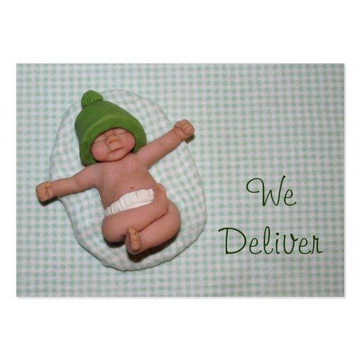 """""""Nós entregamos"""": Algum negócio: Bebê recém-nascid Modelos Cartoes De Visita"""