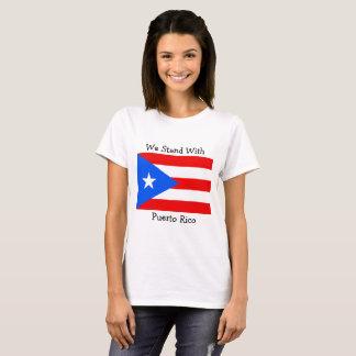 Nós estamos com a camisa da bandeira de Puerto