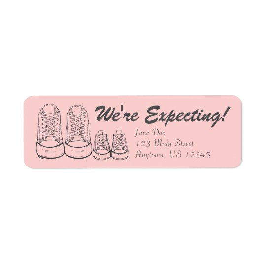 Nós estamos esperando etiquetas do anúncio das etiqueta endereço de retorno