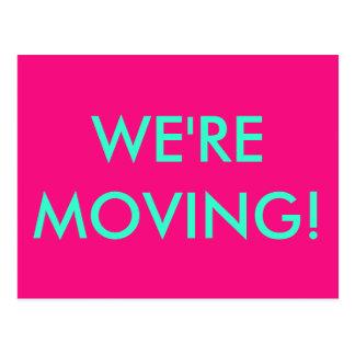 Nós estamos movendo-nos! Cartão