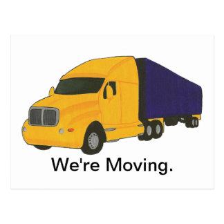 Nós estamos movendo-nos, mudança de cartão de