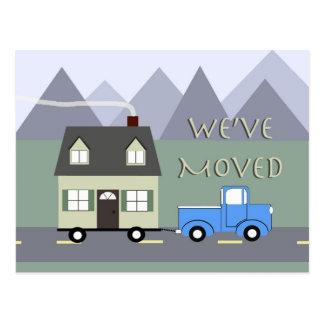 Nós estamos movendo o cartão