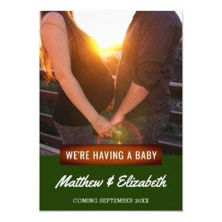 Nós estamos tendo um anúncio da gravidez da foto
