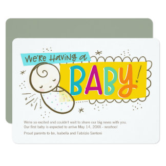Nós estamos tendo um bebê, anúncio da gravidez