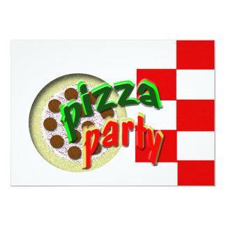 Nós estamos tendo um partido da pizza!!!! convite 12.7 x 17.78cm