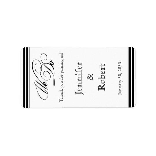 Nós fazemos a etiqueta preto e branco do bálsamo