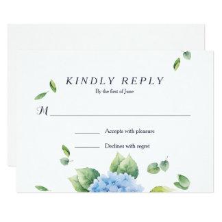 Nós fazemos o cartão do jardim RSVP do Hydrangea Convite 8.89 X 12.7cm